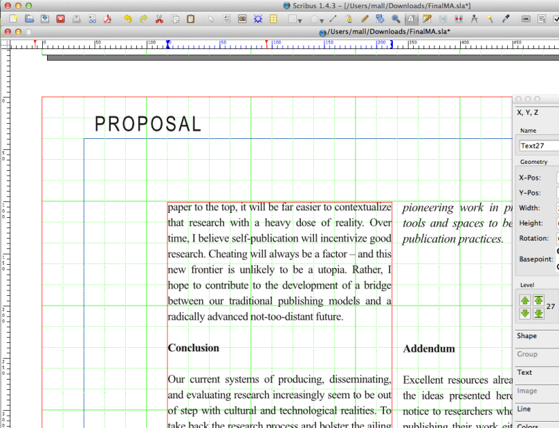 An easy to use Scribus template for self-publishing